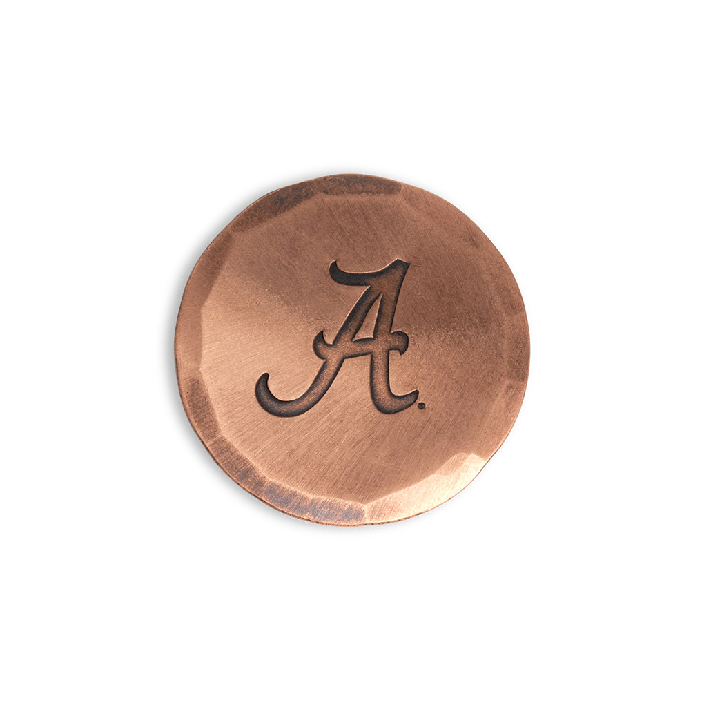 Hand Forged® University of Alabama 'Script A' Ball Mark - Copper