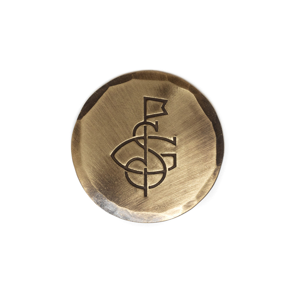 Hand Forged® Bronze Seamus Golf Monogram Ball Mark