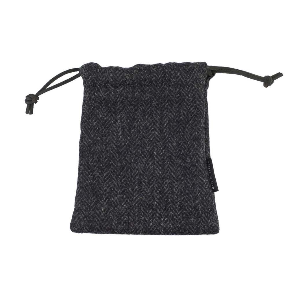 Black Harris Tweed Pouch