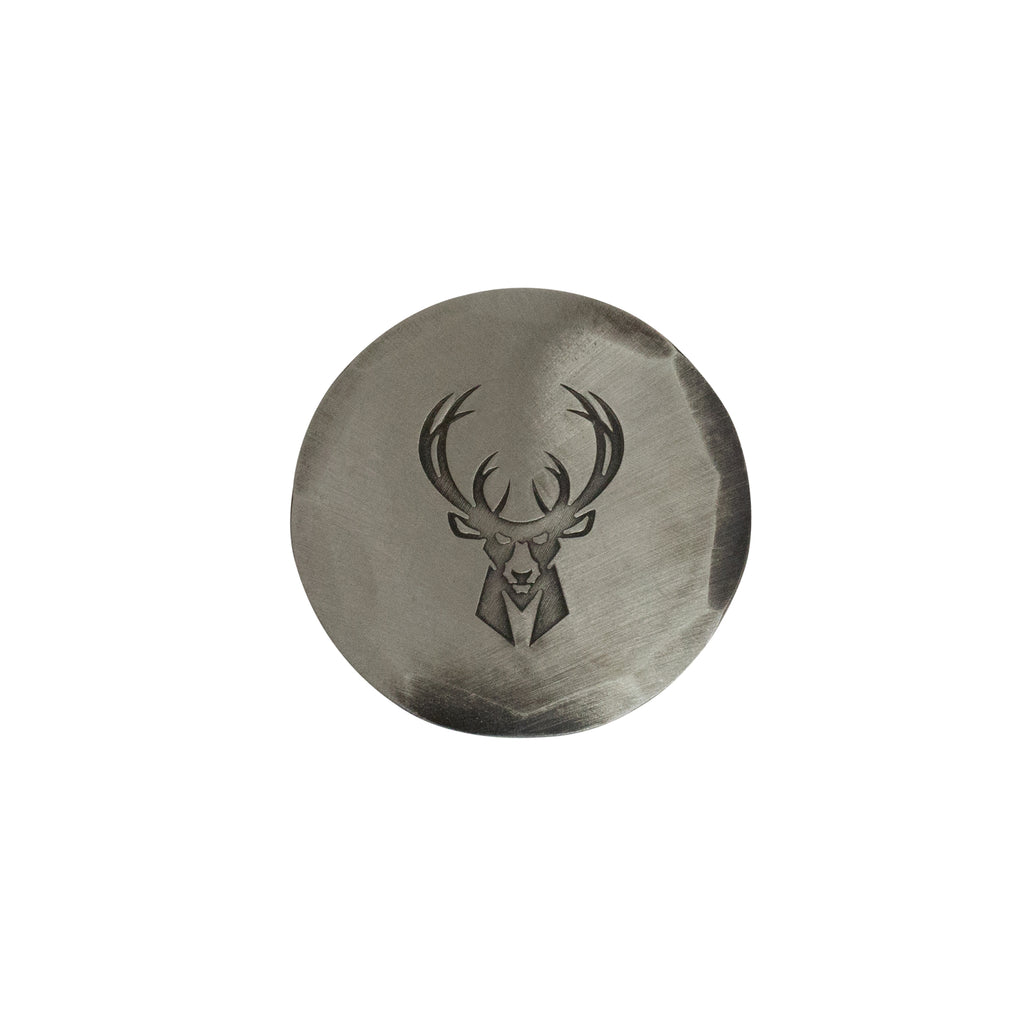 Hand Forged® Milwaukee Bucks Ball Mark - Nickel