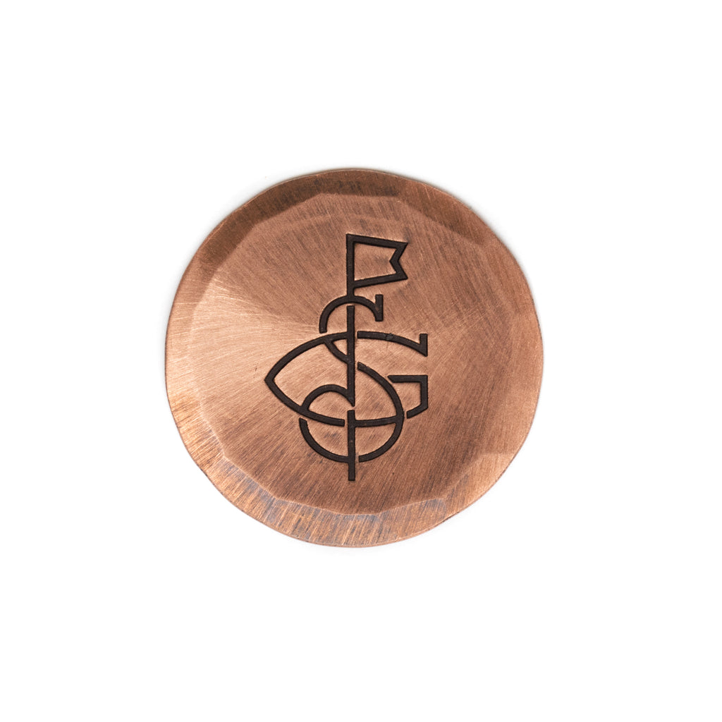 Hand Forged® Copper Seamus Golf Monogram Ball Mark