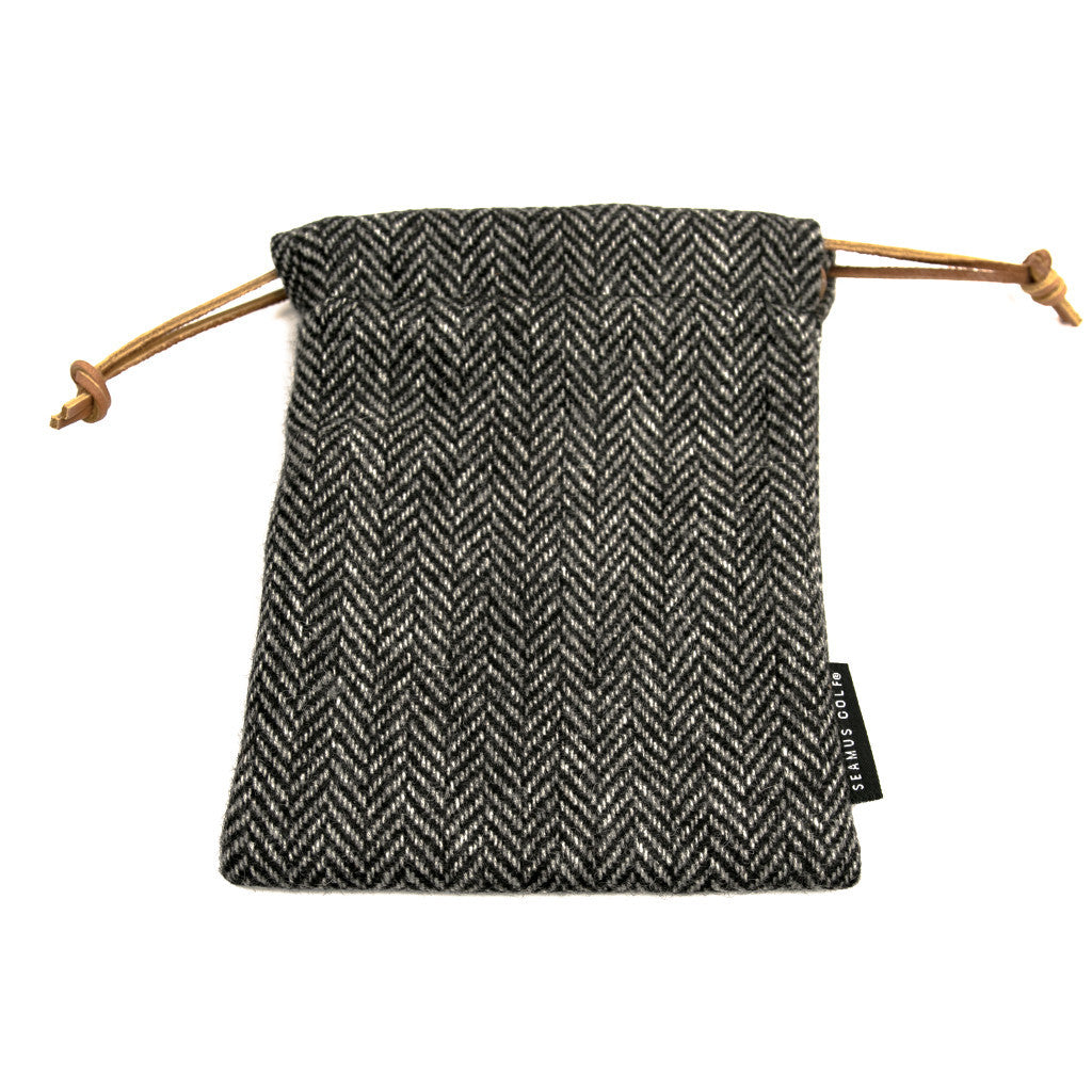 Charcoal Tweed Pouches
