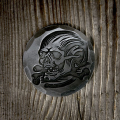 HAND FORGED® X DENTON WATTS® SKULL & CROSSBONES BALL MARK - Steel