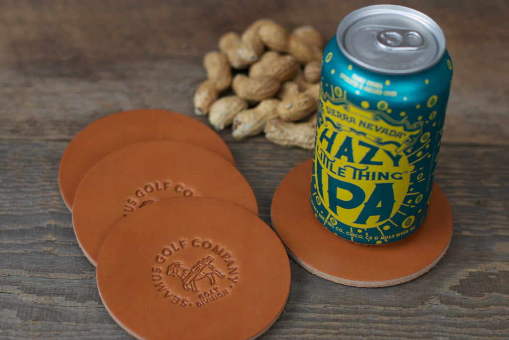 Seamus Goat Division Leather Coasters