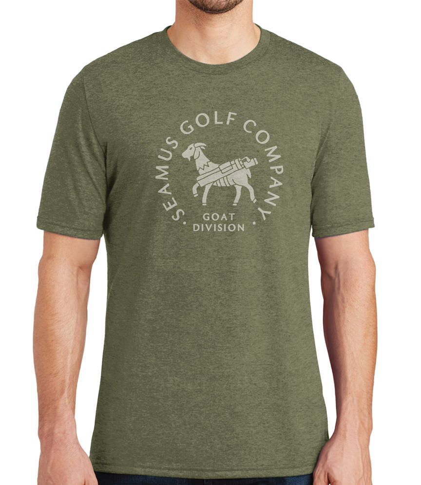 Seamus Goat Division T-Shirt - Moss Green Heather