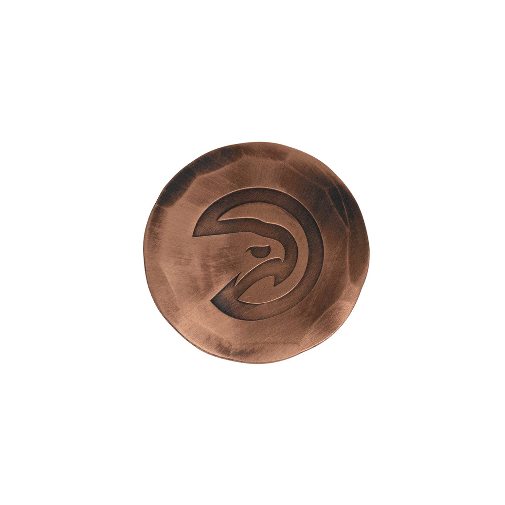 Hand Forged® Atlanta Hawks Ball Mark - Copper