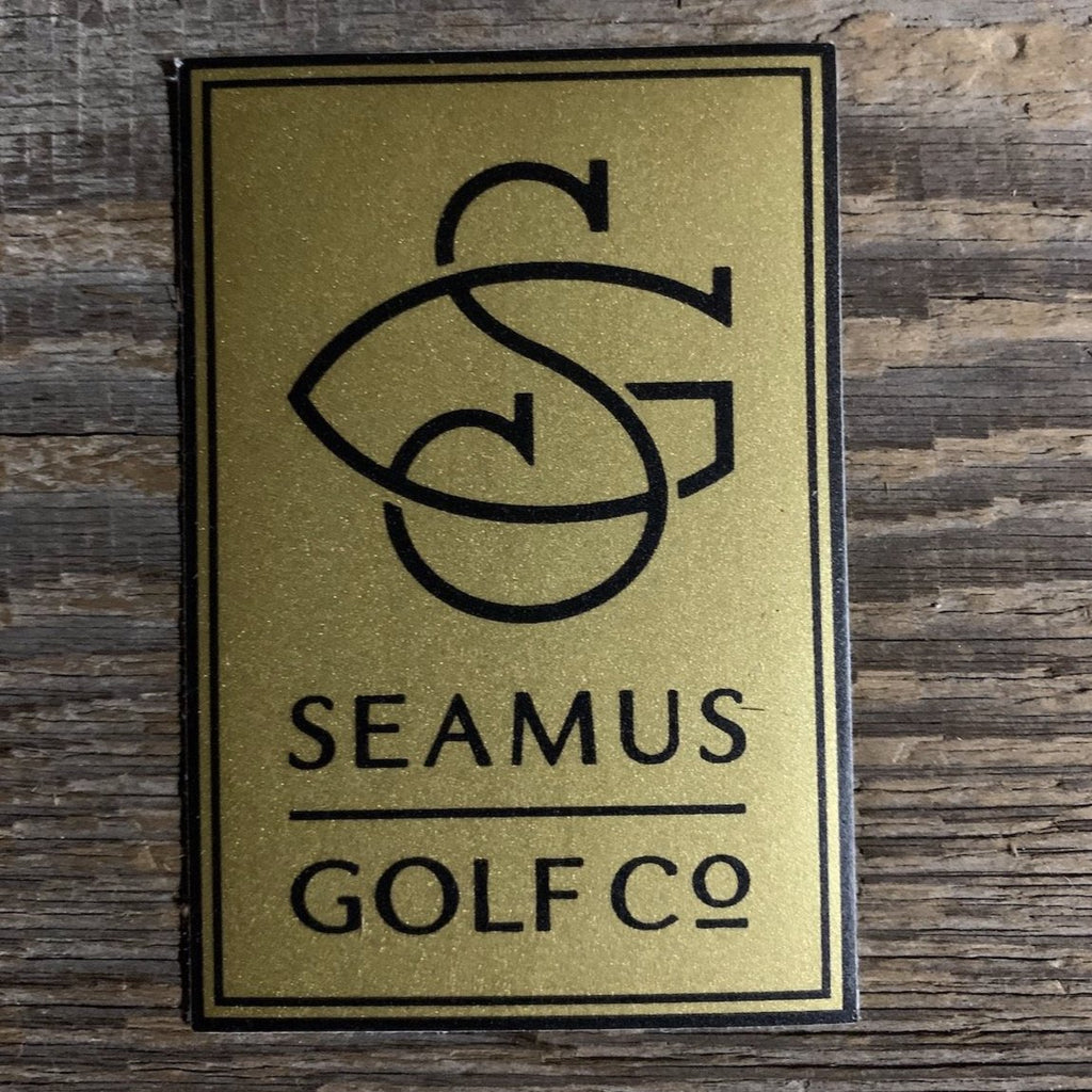 Seamus Golf Matte Gold Sticker