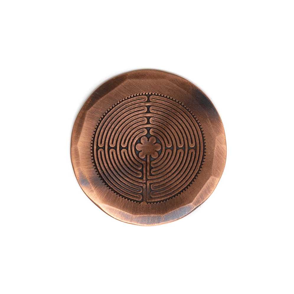 Hand Forged® Labyrinth Ball Mark - Copper