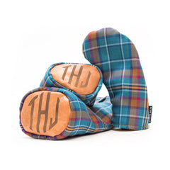 Leather Monogrammed Cian Tartan Head Covers