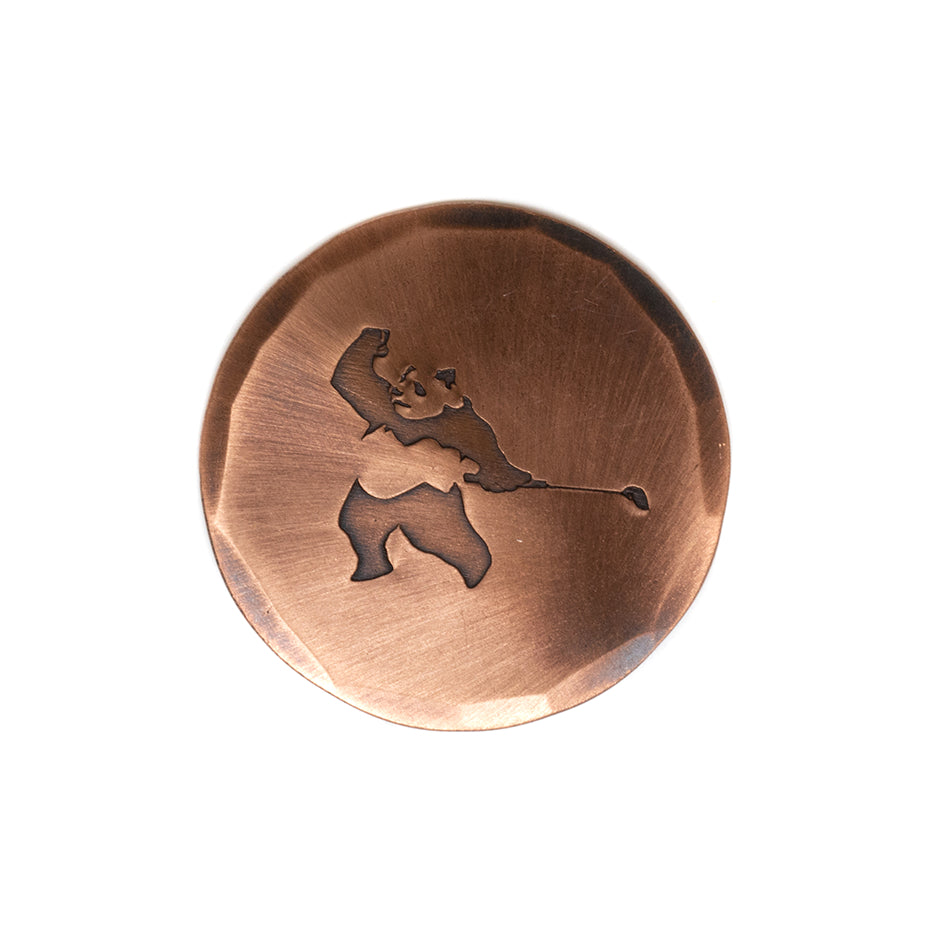 HAND FORGED® X PRESS GOLF® PANDA TIGER ARTISTS EDITION BALL MARK - COPPER