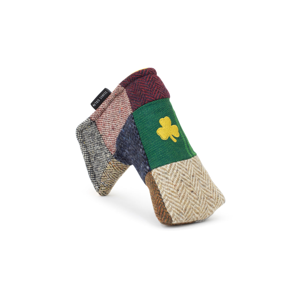 The Portrush Patchwork Magnet Blade Putter Cover