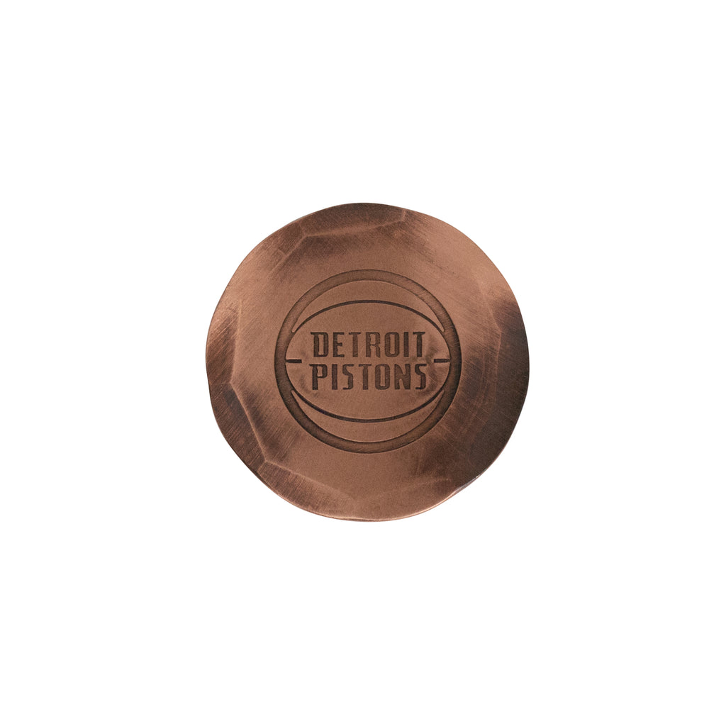Hand Forged® Detroit Pistons Ball Mark - Copper