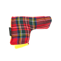 Red Stewart Tartan Putter Cover