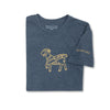 SEAMUS GOAT T-Shirt - Gold on Blue