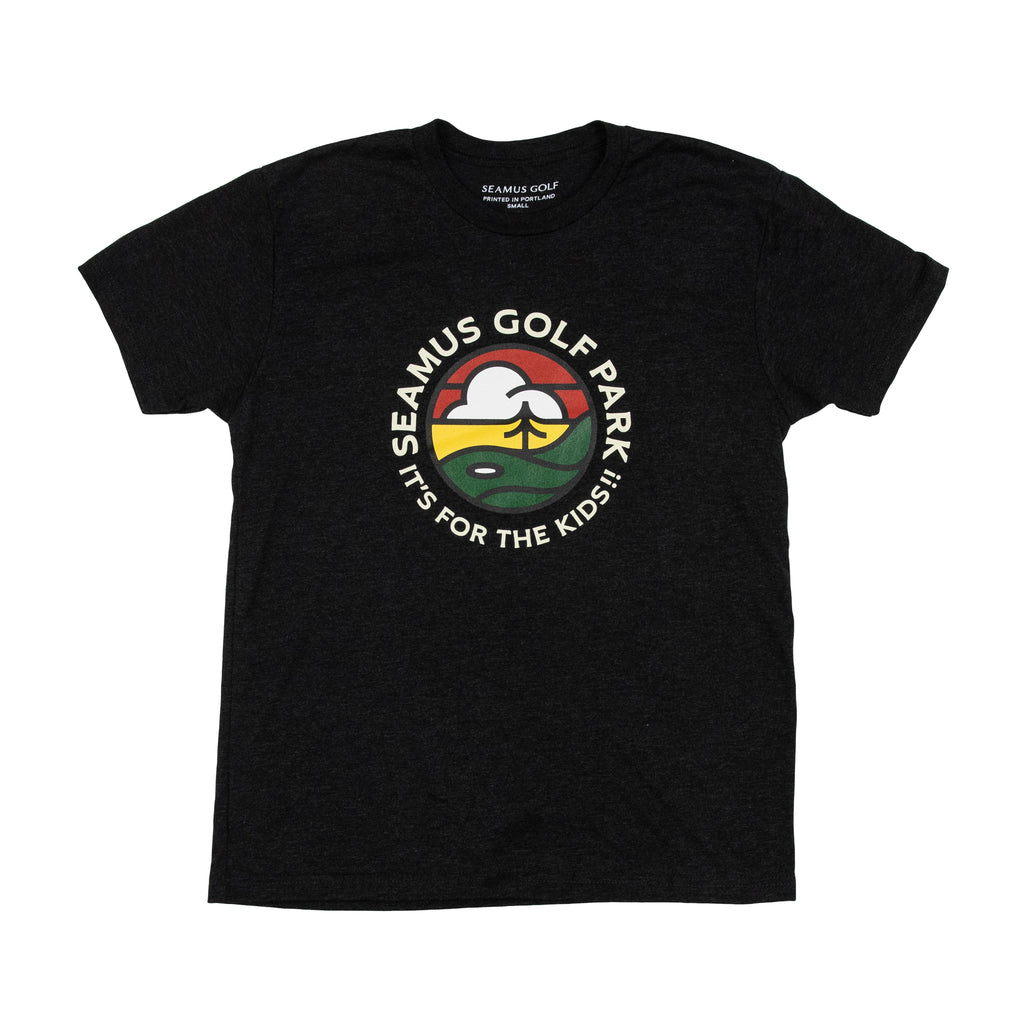 Seamus Golf Park T-Shirt - Black Heather
