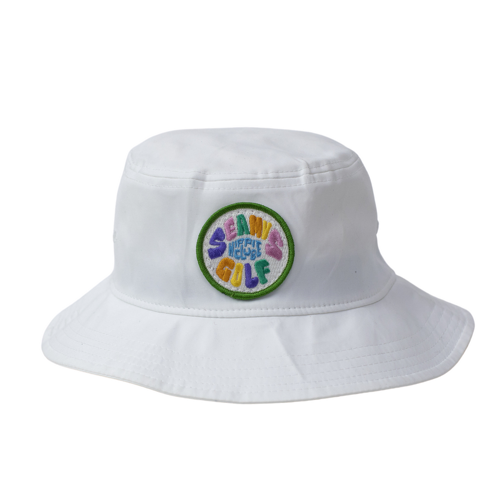Seamus Golf Hippie Club Bucket Hat- White