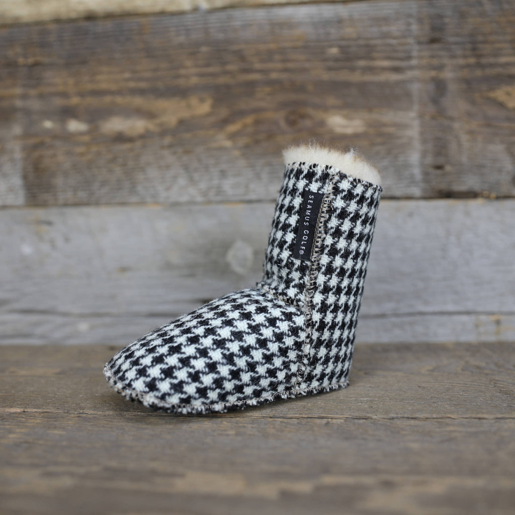 Harris Tweed Dogtooth Sherpa Putter Cover