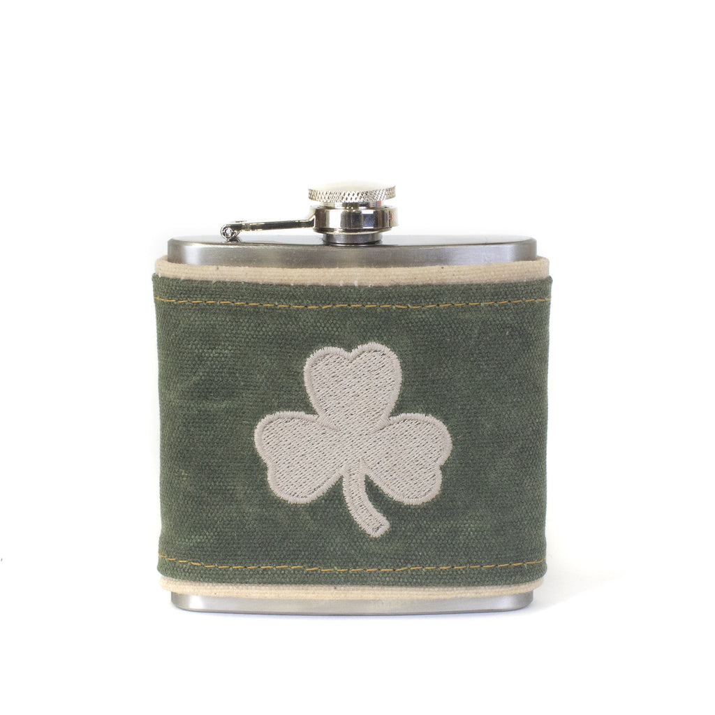 Shamrock Canvas Wrapped Flask