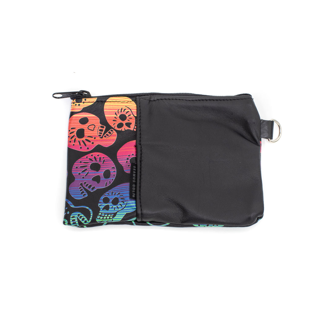 Leather Pendleton® Sugar Skulls Zippered Pouch
