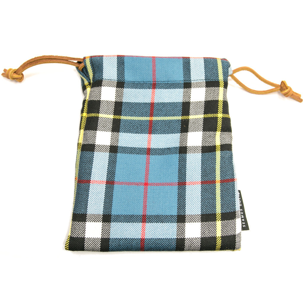 Thompson Blue Dress Modern Tartan Pouches