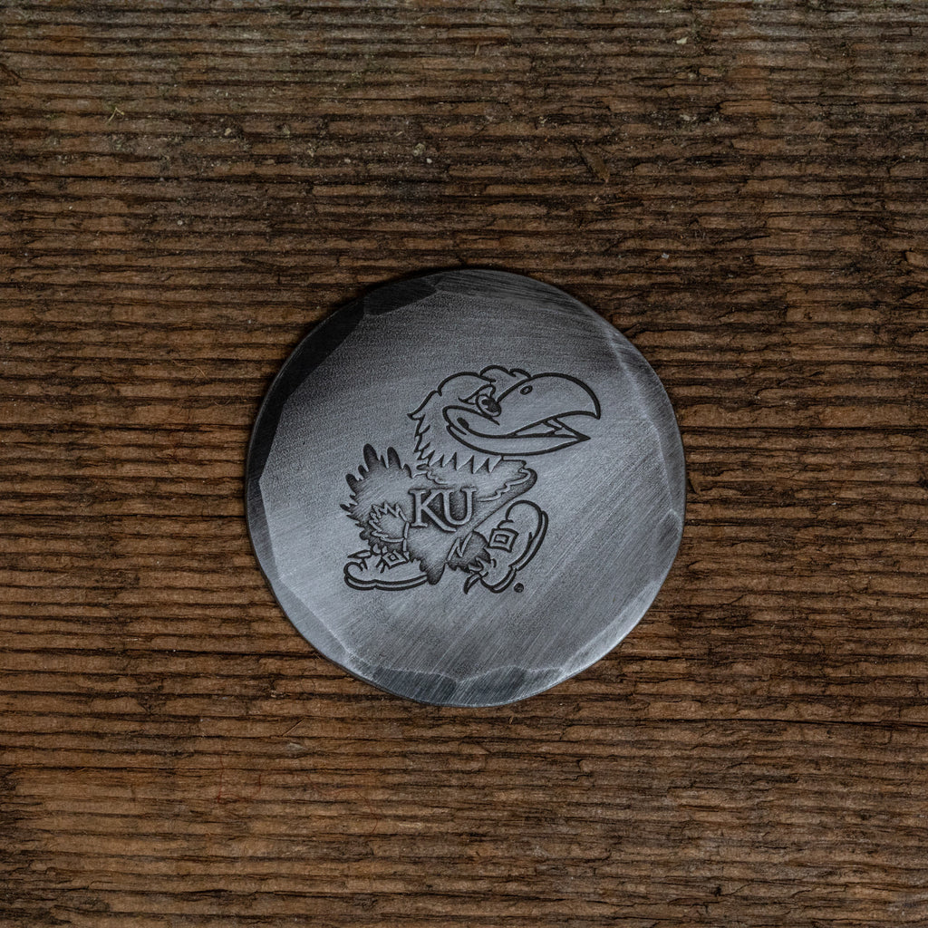 Hand Forged® University of Kansas Jayhawks Ball Mark - Steel