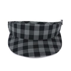 Black and Grey Gingham Tour Visor