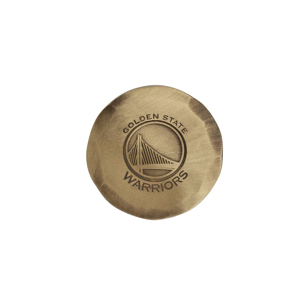 Hand Forged® Golden State Warriors Ball Mark - Bronze