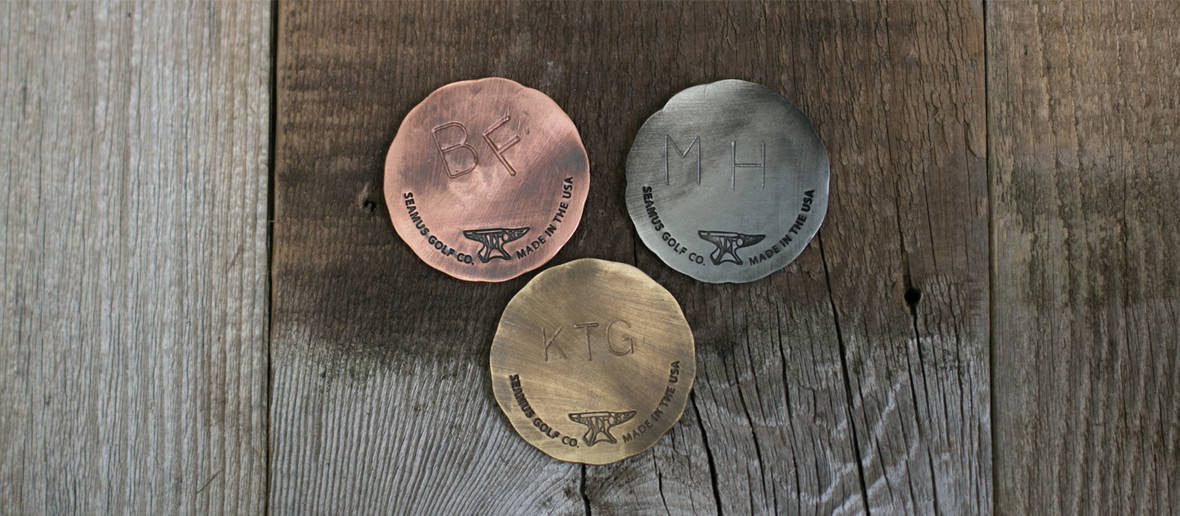 Seamus Golf Ball Marker Personalization Options