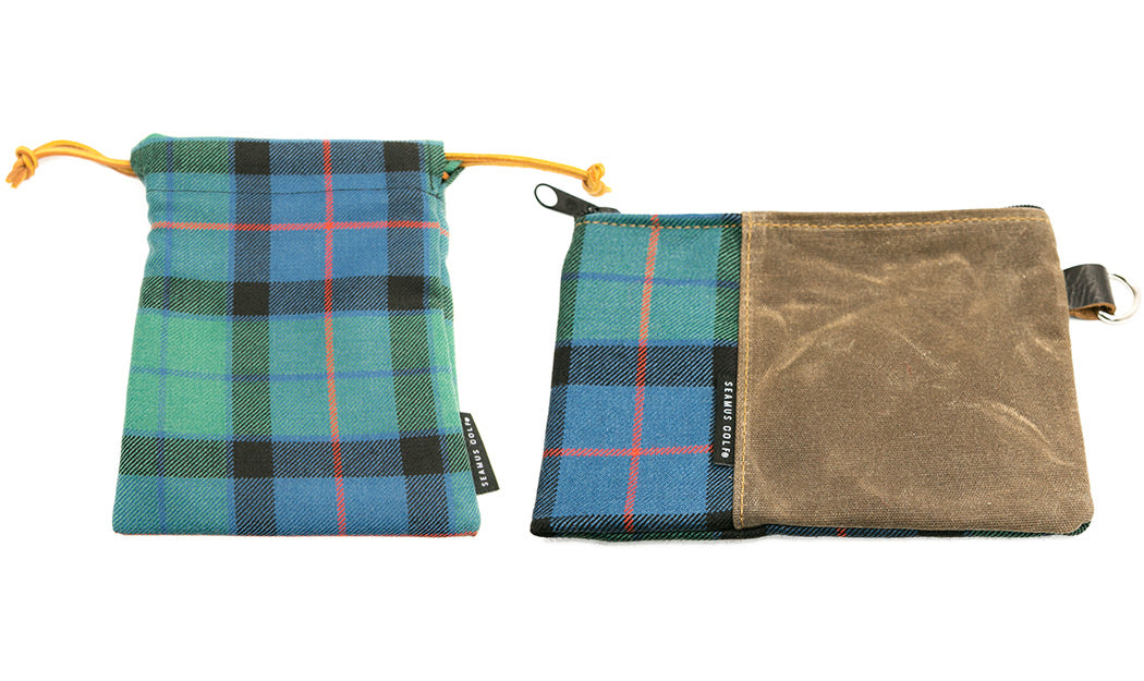 Seamus Golf Drawsting and Zipper Waxed Canvas Pouch Sizing Chart