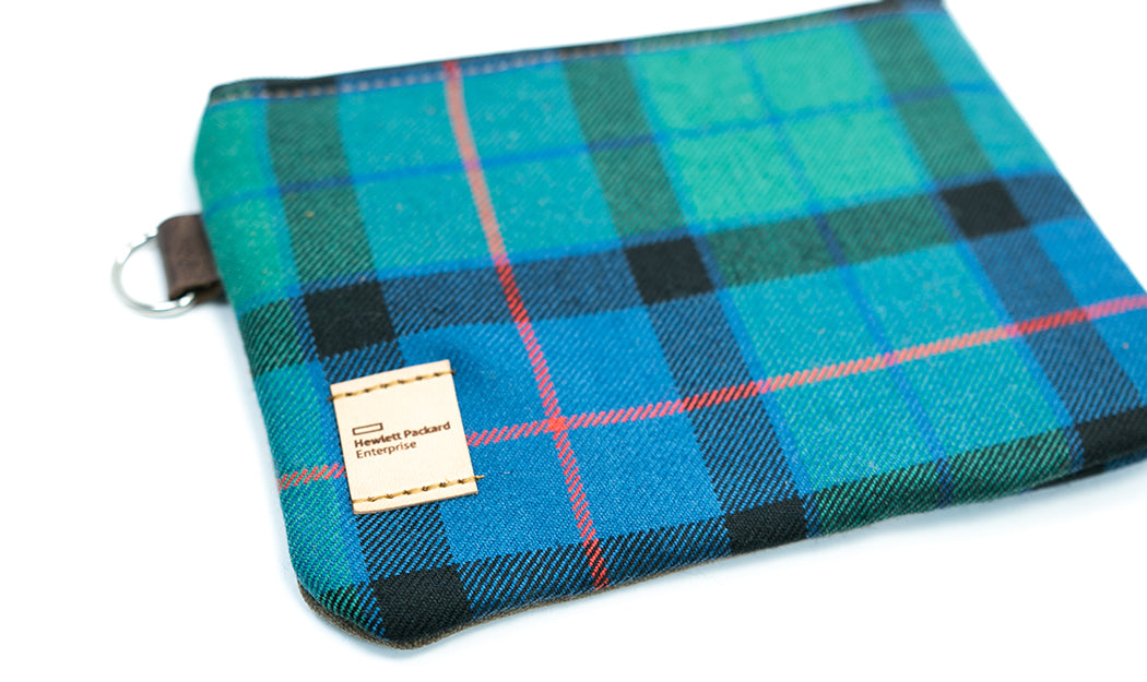 Seamus Golf Zipper Waxed Canvas Pouch Personalization Options