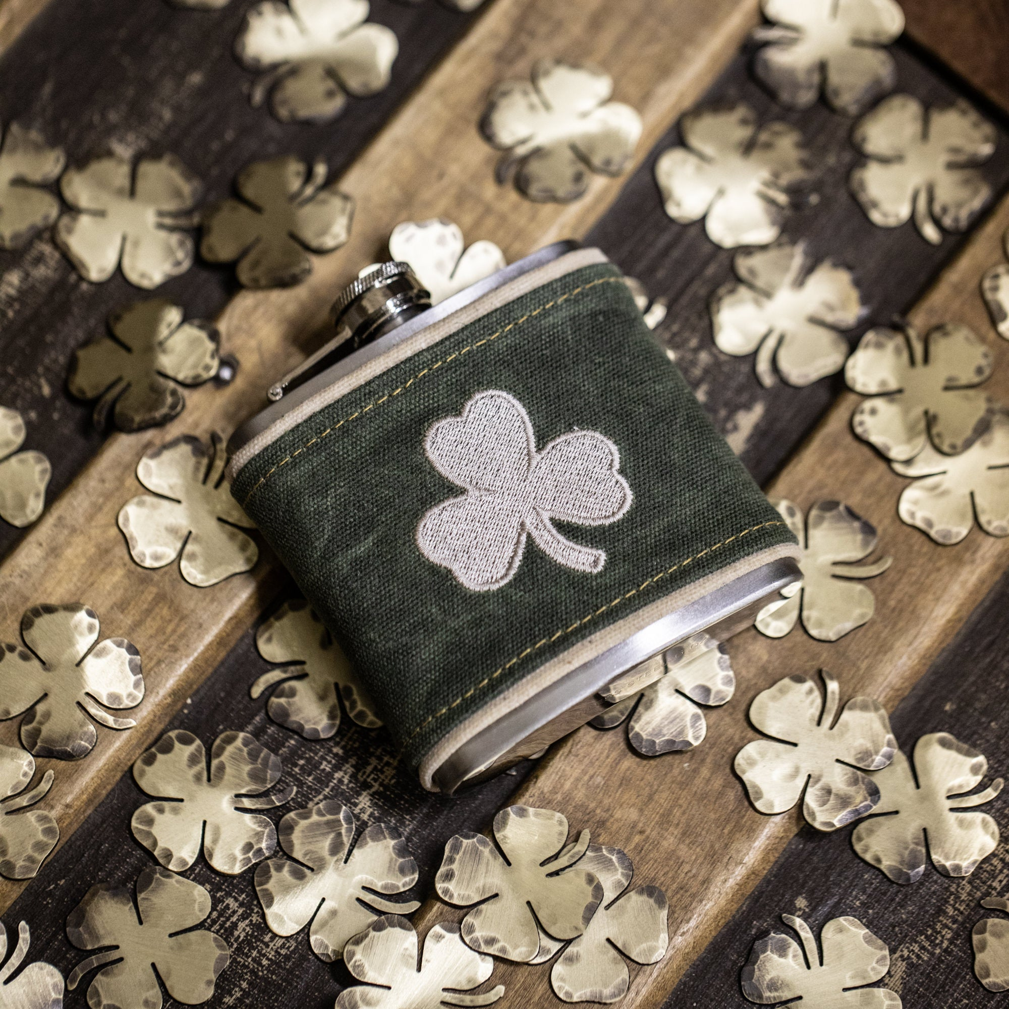 Shamrock Wrapped Flask