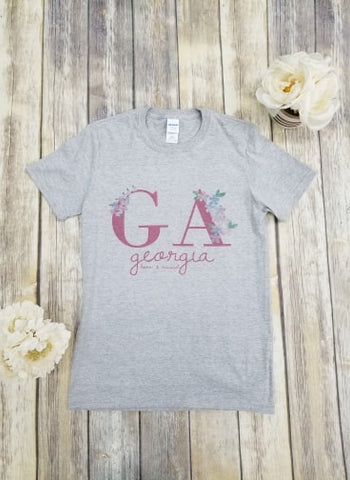 GA Born and Raised T-shirt - Aero Boutique