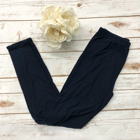 Navy Leggings - Aero Boutique