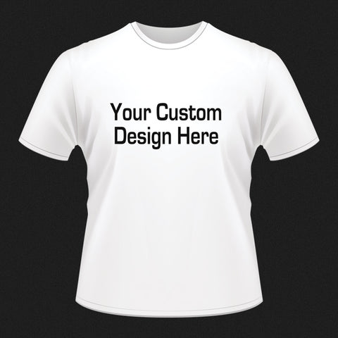 Custom Short Sleeve Tshirt-White