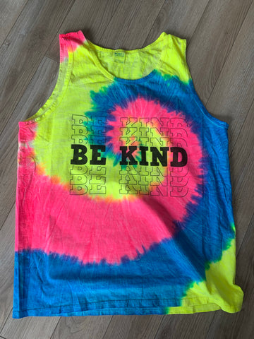 Be Kind Tie Dye Tank Top