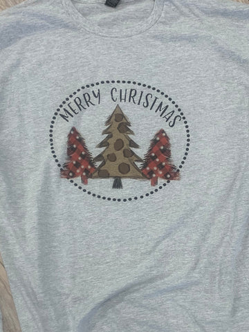 Merry Christmas Leopard Tee - Aero Boutique