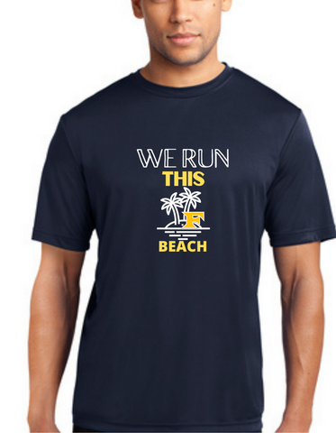Palm Print Pre Order We run this Beach Five Star Performance Tee- Adult and Youth
