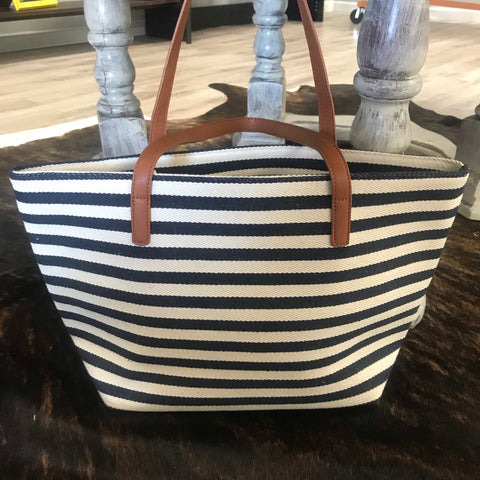 Navy & White Stripes - Aero Boutique