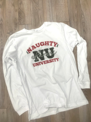 NU Naughty University Alumni  Christmas Tshirt - Aero Boutique