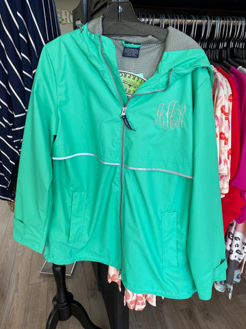 Sea Foam Green Rain Jacket