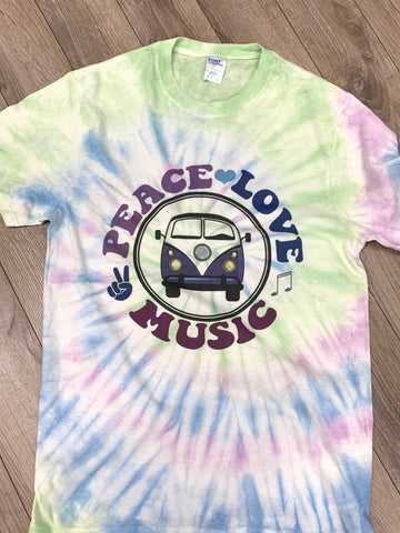 Peace Love and Music Tee - Aero Boutique