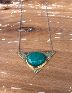 Maris Pendant-Amazonite