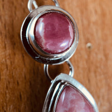 Mikra Drop Earrings-Rhodocrosite