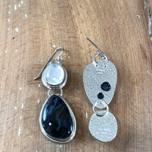 Mikra Drop Earrings-Pietersite + Moonstone