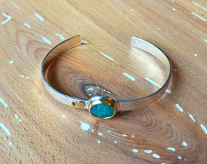 Strand Cuff-White Water Turquoise