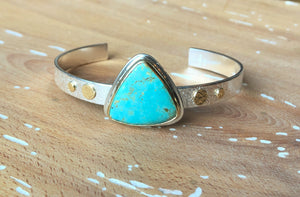 Strand Cuff-Evans Turquoise