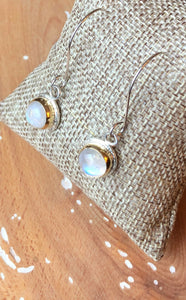 Mikra Drop Earrings-Moonstone