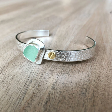 Strand Cuff-Martha's Vineyard Sea Glass