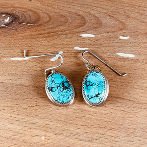 Mikra Drop Earrings-Tibetan Turquoise