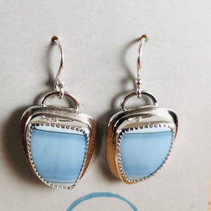 Mikra Drop Earrings-Blue Opal